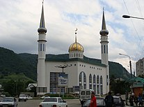 Town of Karachaevsk central mosque. Russia, Karachaevo-Cherkessia.jpeg