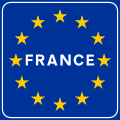 Traffic sign of border with France.svg