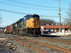 CSX Train Q410 going through the Metuchen Road Crossing in South Plainfield in 2005