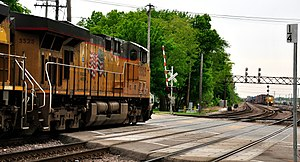 West Chicago, Illinois - A railroad crossing at West Chicago.