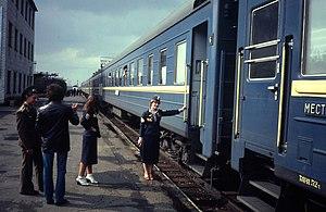 Car attendant - Trans-Siberian car attendant