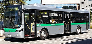 Low-floor bus Bus with no steps between the ground and the interior
