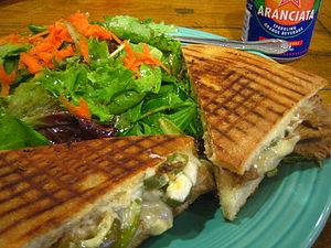 Panini (sandwich) - Image: Tri tip panini