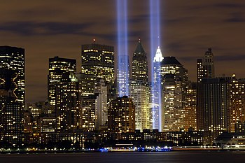 "The ""Tribute in Light"" memorial is i..."