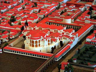 Trier Imperial Baths - Image: Trier Kaiserthermen Modell