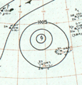 Tropical Storm Rita analysis 17 Jan 1961.png
