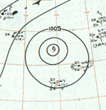 Tropical Storm Rita analysis 17 Jan 1961.png