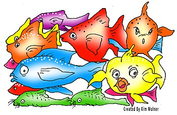 English: Tropical Fish cartoon