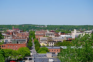 Central Troy Historic District - View west over downtown Troy from RPI, 2009
