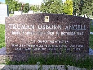 Truman O. Angell - Image: Truman Angell Grave