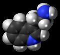 Tryptamine molecule spacefill.png