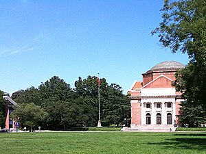 Tsinghua University - Built in 1917, the Grand Auditorium with its Jeffersonian architectural design is a centerpiece of the old campus