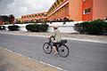 Tunisia Nabeul man on a bike 2011.jpg