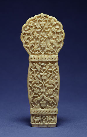 Ornament (art) - Arabesque ornament on a Turkish dagger hilt