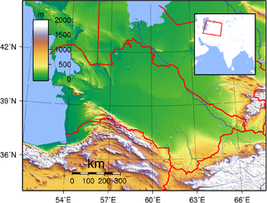 Geography of Turkmenistan - Topography of Turkmenistan