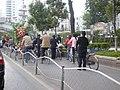 Two-wheeled vehicle lane on East Dongfeng Road, Kunming.JPG