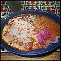 Two Enchiladas at Holas, Belmont (8378985098).jpg
