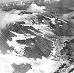 Tyeen Glacier, tidewater glacier and glacial remnents, August 25, 1968 (GLACIERS 5937).jpg