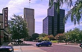 Downtown Tyler, Texas skyline in 2012