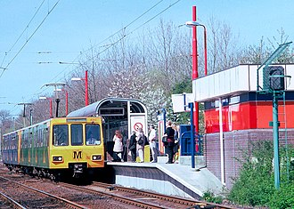 Kingston Park Metro station - Image: Tyne&Wear Metrotrain at Kingston Park station