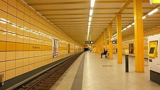 Weberwiese (Berlin U-Bahn) - Weberwiese U-Bahn station after renovation