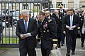 U.S. Defense Secretary Chuck Hagel, left, speaks with U.S. Army Lt. Gen. Robert B. Abrams, his senior military assistant, before the first session of the North Atlantic Council at NATO headquarters in Brussels 140603-M-EV637-031.jpg