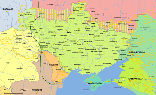 Ukrainian Peoples Republic Wikiwand - Peoples republic map