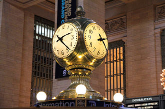 Milk glass - Milk glass clock faces at Grand Central Terminal in New York City