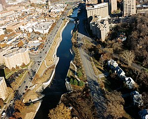 Brush Creek (Blue River tributary) - Brush Creek flowing through Kansas City, Missouri