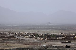 Bahramcha Town in Helmand Province, Afghanistan