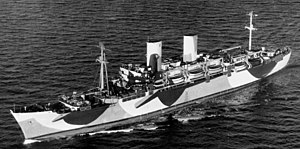 USS General W. P. Richardson (AP-118) at sea in the Atlantic Ocean on 14 November 1944 (80-G-289826).jpg