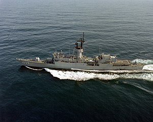 USS Hepburn (FF-1055) - Image: USS Hepburn (FF 1055) underway