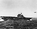 USS Hornet (CV-8) launching B-25 bomber during the Doolittle Raid on 18 April 1942 (80-G-41197).jpg
