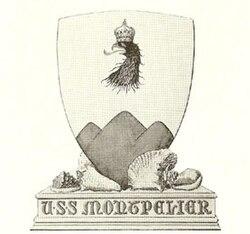 USS Montpelier (CL-57) shield