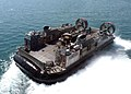 US Navy 040707-N-2382W-103 A Landing Craft Air Cushion LCAC assigned to Assault Craft Unit Four ACU-4, prepares to transport elements of the 24th Marine Expeditionary Unit MEU.jpg