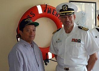 Ariel Abadilla - Ariel Abadilla (left) aboard a US Navy ship