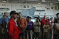 US Navy 080704-N-2757S-015 Lt. Jameel McDaniel, assigned to Helicopter Anti-Submarine Squadron Light (HSL) 51, talks to a group of visitors.jpg