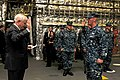 US Navy 110506-N-YR391-001 Secretary of Defense Robert M. Gates delivers the oath of enlistment to Boatswain's Mate 1st Class Nathan Ellsworth duri.jpg