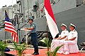US Navy 110601-N-NJ145-026 Indonesian Navy Col. Chris Paath, co-commander for CARAT Indonesia 2011, gives thanks to exercise participants during cl.jpg