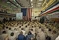 US Navy 110911-N-UT455-066 Sailors and Marines aboard the amphibious transport dock ship USS Green Bay (LPD 20) listen as guest speaker Lt. Roger P.jpg