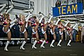 US Navy 120213-N-DX615-530 Seattle Seahawks cheerleaders, the Sea Gals, perform a dance routine for Sailors and Marines aboard the amphibious assau.jpg