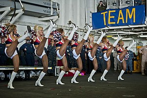 Sea Gals - Image: US Navy 120213 N DX615 530 Seattle Seahawks cheerleaders, the Sea Gals, perform a dance routine for Sailors and Marines aboard the amphibious assau