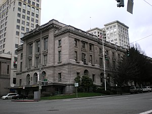 United States v. Washington - Tacoma federal courthouse that housed the U.S. District Court in 1974