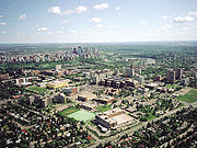 University, river valley, and downtown Edmonton