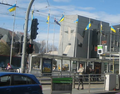 Ukrainian flags on Federation square. Melbourne.png