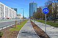 Ulica Prosta w Warszawie, widok w kierunku ronda ONZ.JPG