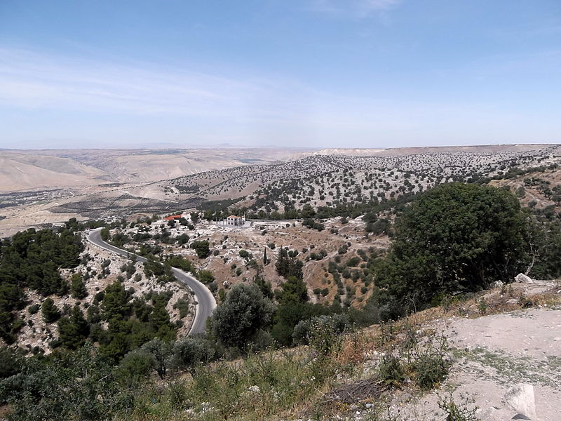 Natural view in Umm Qais, Jordan. By لا روسا, freely licenced under CC BY-SA 4.0. Quality image on Wikimedia Commons.