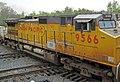 Union Pacific Railroad - 9566 diesel locomotive (Marion, Ohio, USA) (28354933967).jpg