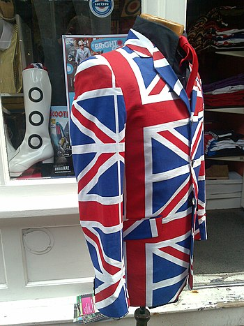 English: A Union jack jacket.