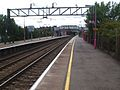 Upminster station eastbound c2c looking west.JPG